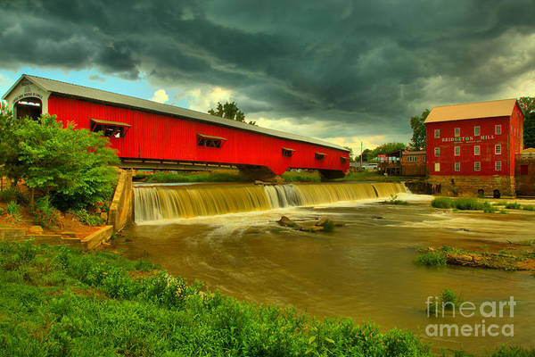 Photograph - Summer Storms Over Bridgeton, In by Adam Jewell