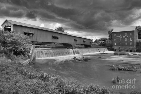 Photograph - Summer Storms Over Bridgeton, In Black And White by Adam Jewell