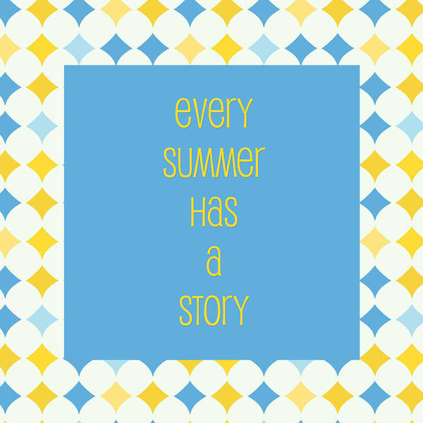 Summertime Digital Art - Summer Story by Bonnie Bruno