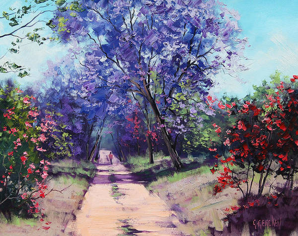 Commission Wall Art - Painting - Summer Stroll by Graham Gercken