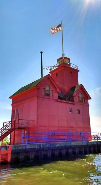 Holland State Park Photograph - Summer Sun And Big Red by Michelle Calkins