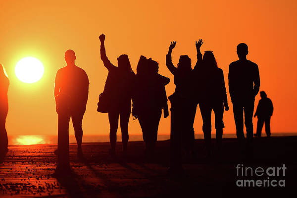 Photograph - Summer Sundown With Friends by Keith Morris