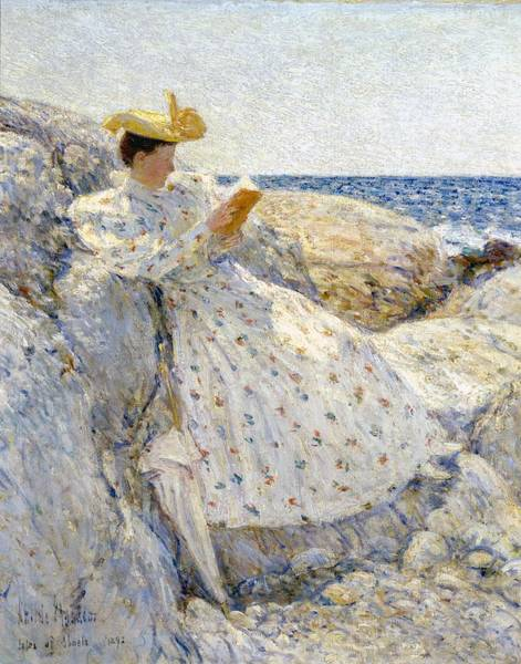 Alfresco Wall Art - Painting - Summer Sunlight by Childe Hassam