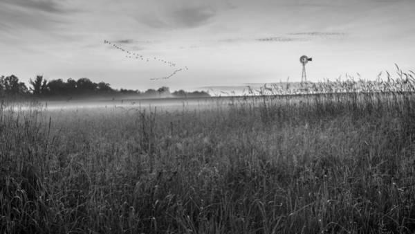 Photograph - Summer Sunrise 2015 Bw by Bill Wakeley