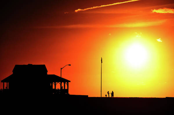 Down The Shore Photograph - Summer Sunrise At The Jersey Shore by Bob Cuthbert