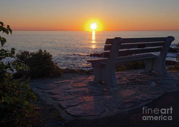 Photograph - Summer Sunrise, Marginal Way, Ogunquit, Maine  -67904 by John Bald