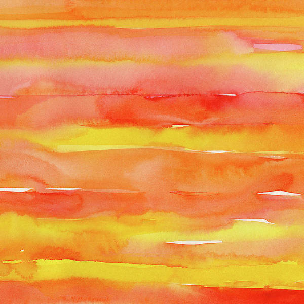 Wall Art - Painting - Summer Sunrise by Olga Shvartsur