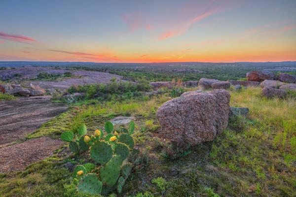 Enchanted Rock State Park Photograph - Summer Sunset From Enchanted Rock State Natural Area 4 by Rob Greebon