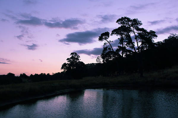 Photograph - Summer Sunset Over Dam In Yarra Glen 26-01-2015 by Bert Ernie