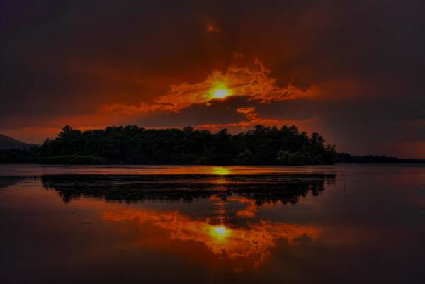 Photograph - Summer Sunset Over Lake Wausau by Dale Kauzlaric