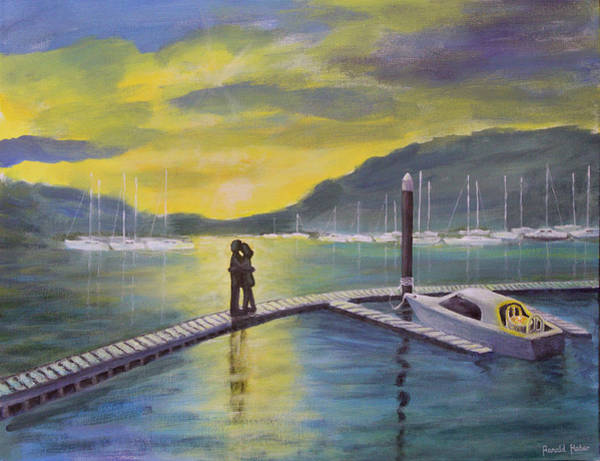 Windermere Painting -  Sunset Over Lake Windermere by Ronald Haber