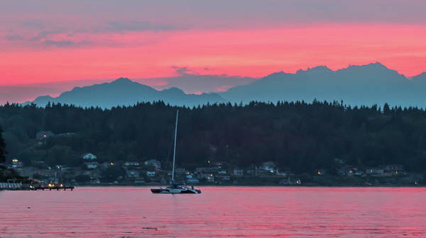Photograph - Summer Sunset Over Yukon Harbor.5 by E Faithe Lester