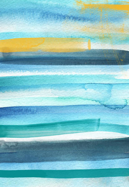 Teal Mixed Media - Summer Surf 2- Art By Linda Woods by Linda Woods