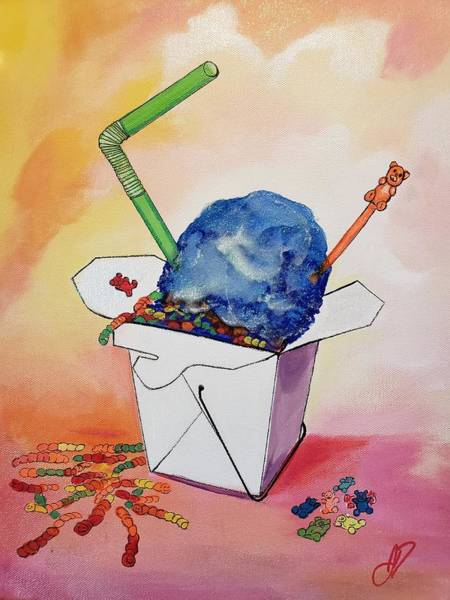 Gummy Bear Painting - Summer Takeout by John Duplantis