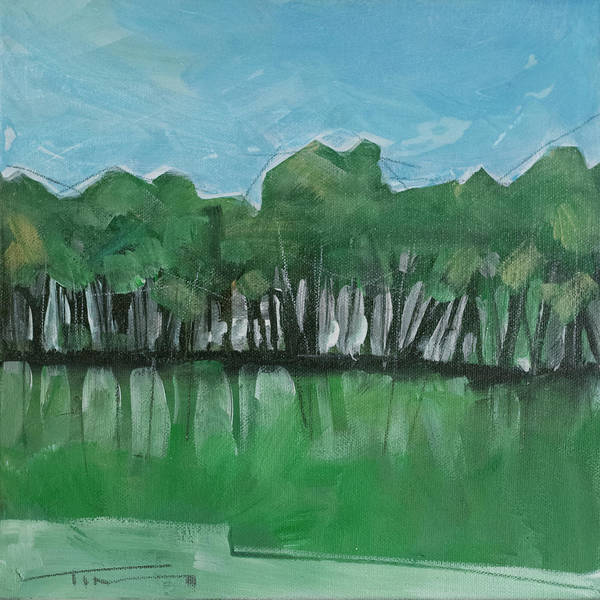 Painting - Summer Treeline by Tim Nyberg
