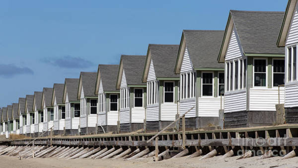 Photograph - Summer Vacation Cottages At The Beach by Edward Fielding