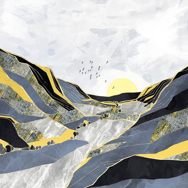Valley Digital Art - Summer Valley by Spacefrog Designs