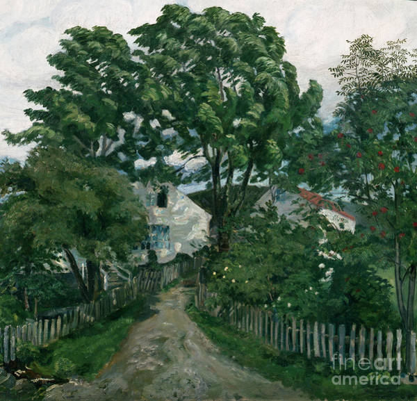 Nikolai Astrup Painting - Summer Wind At Joelster Vicarage by O Vaering