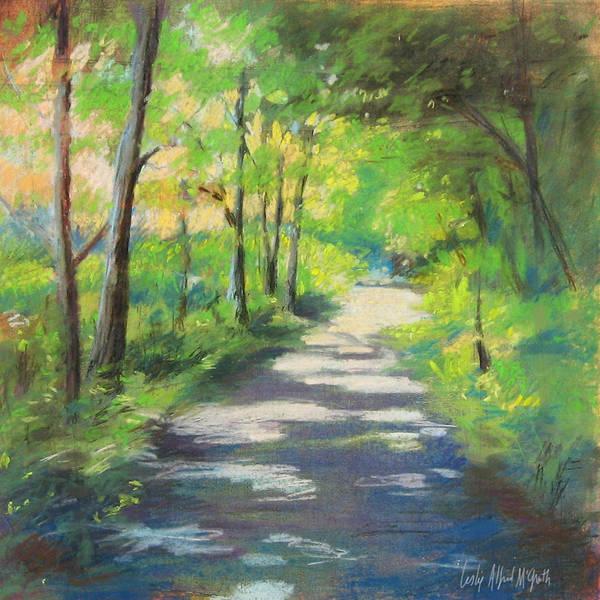 Wall Art - Painting - summer woods at Kenoza Lake by Leslie Alfred McGrath