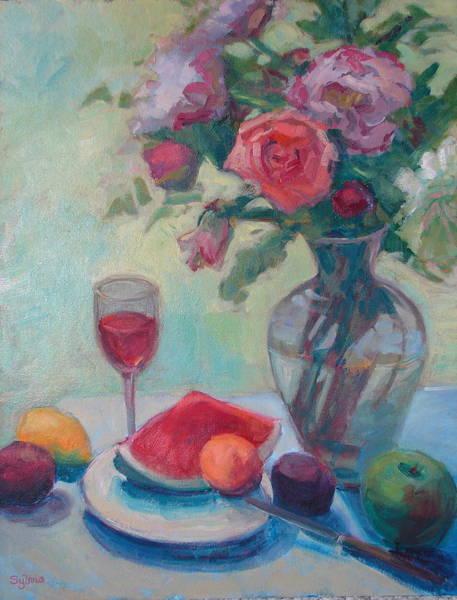 Wall Art - Painting - Summer's Bounty by Sylvia Carlton