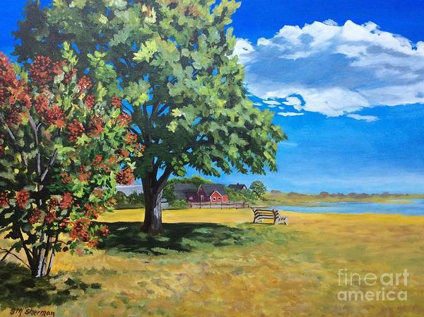 Painting - Summer's End In Biddeford At Biddeford  Pool by Stella Sherman