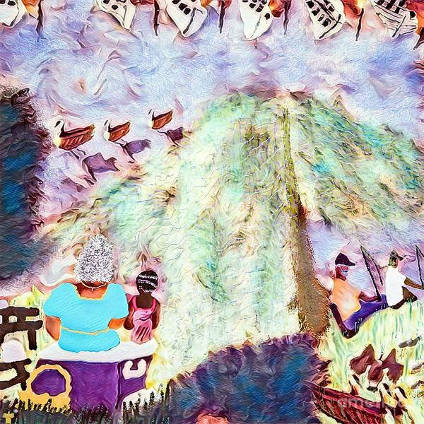 Cookout Digital Art - Summers On The Anacostia  by Dorian Hamilton