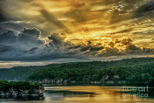 Photograph - Summersville Lake Sunrise by Thomas R Fletcher
