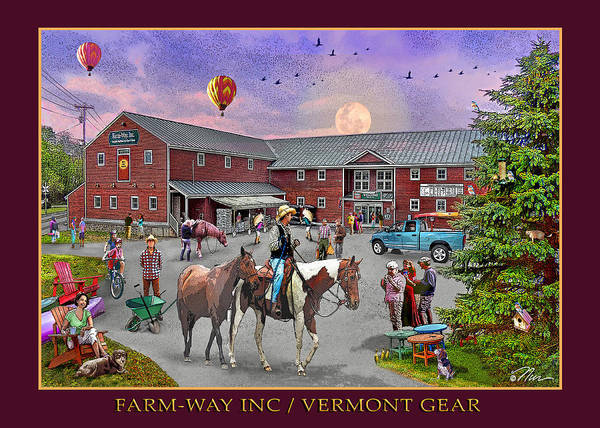 Horse Shoe Digital Art - Summertime At Farmway In Bradford Vermont by Nancy Griswold