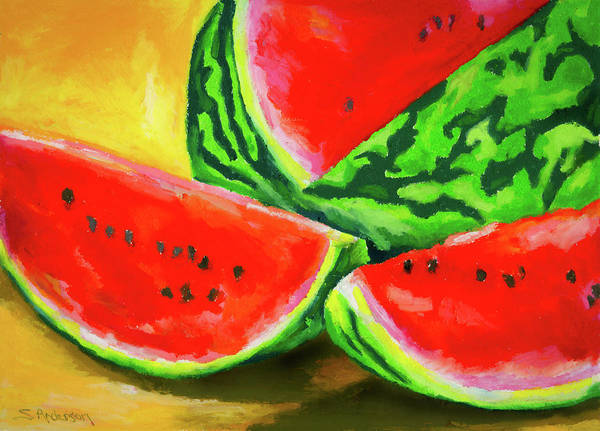 Melon Painting - Summertime Delight by Stephen Anderson