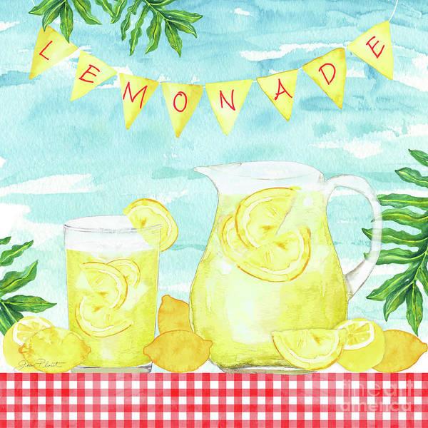 Lemonade Wall Art - Painting - Summertime Lemonade 1 by Jean Plout