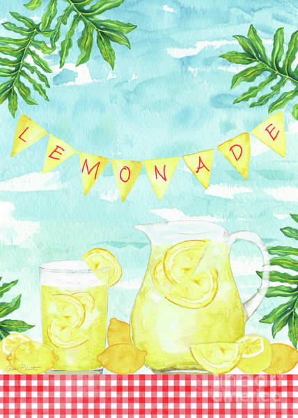 Lemonade Wall Art - Painting - Summertime Lemonade 2 by Jean Plout