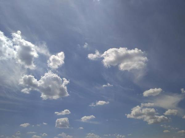 Sunny Photograph - Summertime Sky Expanse by Arletta Cwalina