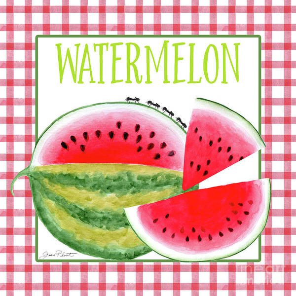 Water-melon Wall Art - Painting - Summertime Watermelon by Jean Plout
