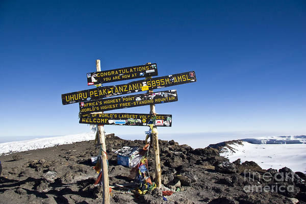 Kilimanjaro Photograph - Summit Of Kilimanjaro by Scotts Scapes