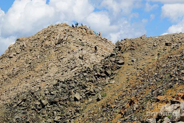 Photograph - Summiting Mount Massive Summit by Steve Krull