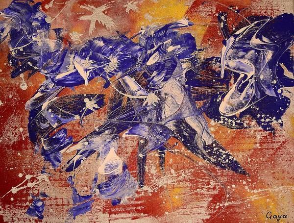 Summoning Painting - Summoning Fire To Fly by Gaya Karapetyan