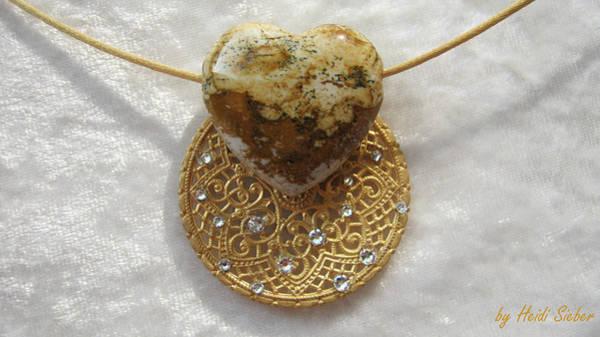 Jewelry - Sun Amulet Jasper by Heidi Sieber