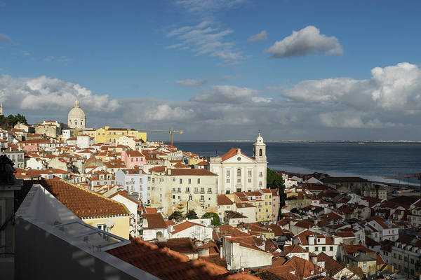 Photograph - Sun And Cloud Alfama Lisbon Portugal by Georgia Mizuleva