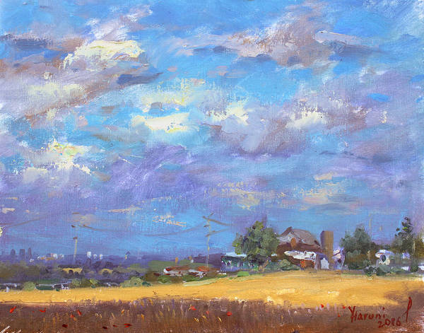 Grain Painting - Sun And Clouds Georgetown  by Ylli Haruni