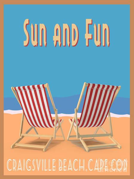 Digital Art - Sun And Fun Craigsville Beach Cape Cod by Edward Fielding