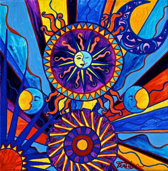 Painting - Sun And Moon by Teal Eye Print Store