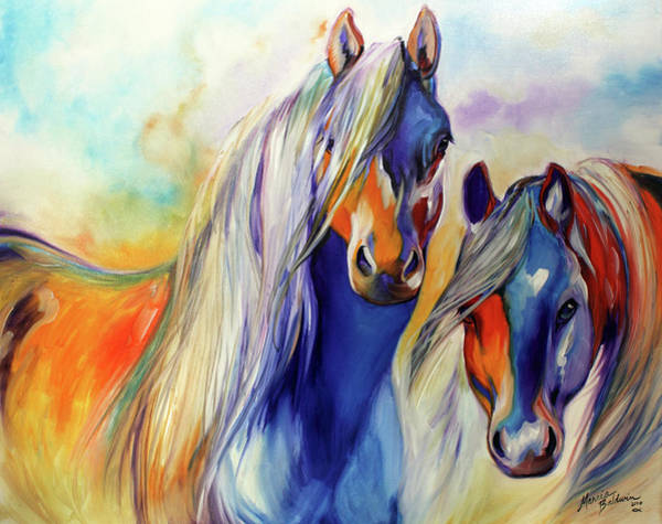 Wall Art - Painting - Sun And Shadow Equine Abstract by Marcia Baldwin