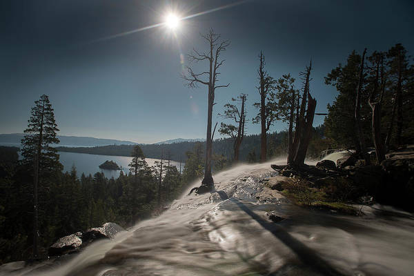 Photograph - Sun And Waterfall At Lake Tahoe by Dan Friend
