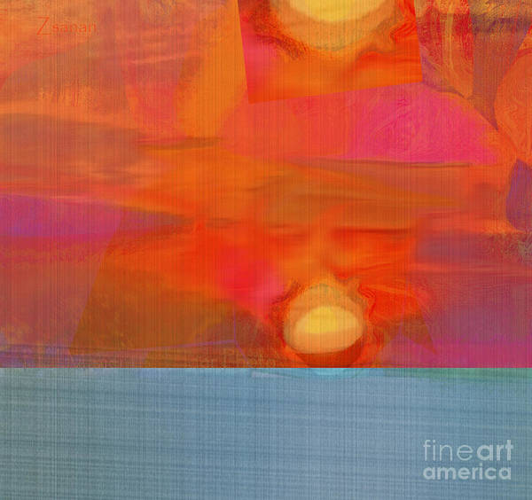 Organic Abstraction Mixed Media - Sun Basket by Zsanan Studio