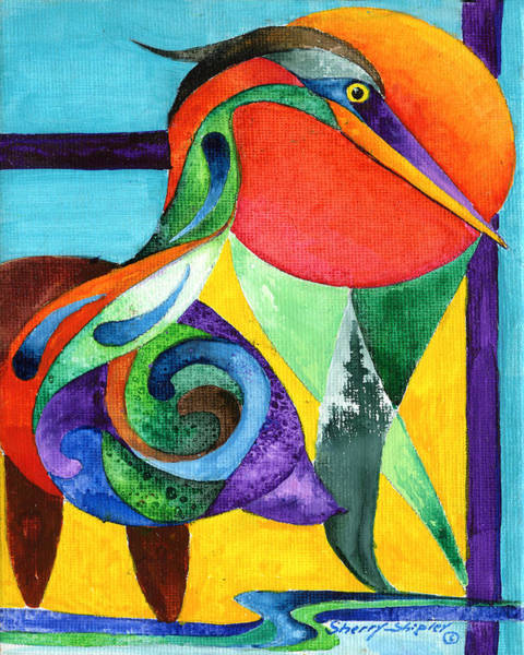 Painting - Sun Bird by Sherry Shipley