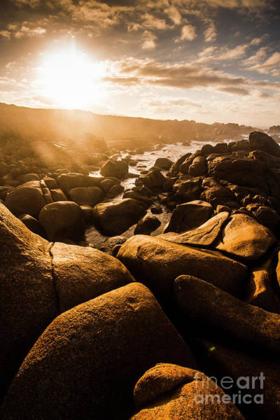 Stone Wall Wall Art - Photograph - Sun Bleached Australia Beach by Jorgo Photography - Wall Art Gallery