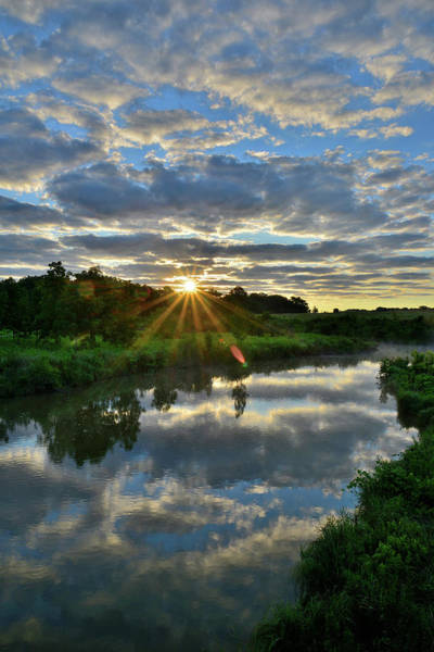 Photograph - Sun Breaks Through Along Nippersink Creek by Ray Mathis
