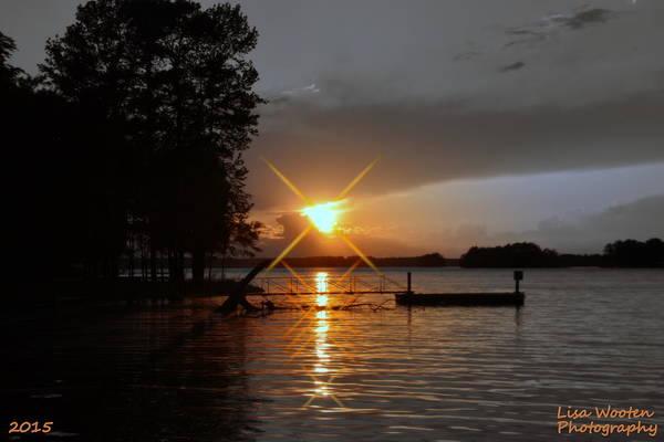 Photograph - Sun Burst At Sun Down by Lisa Wooten