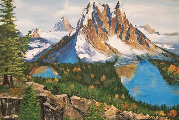 Painting - Sun Burst Peak Canada  by Sharon Duguay