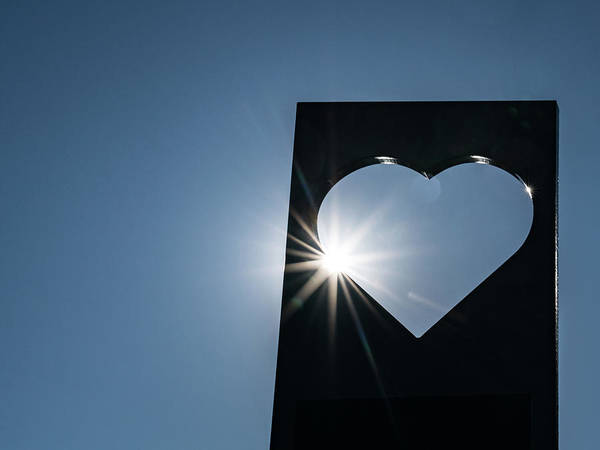 Photograph - Sun Bursting Heart by Framing Places
